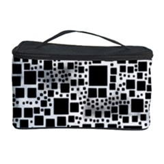 Block On Block, B&w Cosmetic Storage Case by MoreColorsinLife