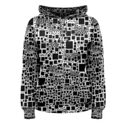 Block On Block, B&w Women s Pullover Hoodie