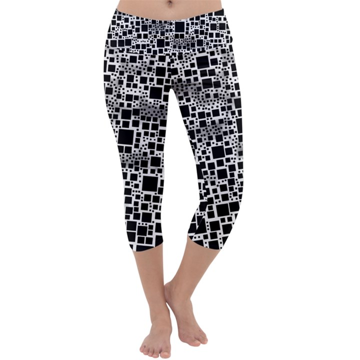 Block On Block, B&w Capri Yoga Leggings