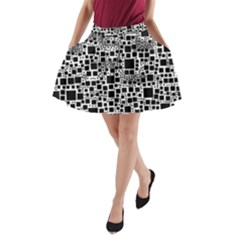 Block On Block, B&w A Line Pocket Skirt by MoreColorsinLife