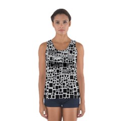 Block On Block, B&w Women s Sport Tank Top