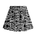 Block On Block, B&w Mini Flare Skirt View1
