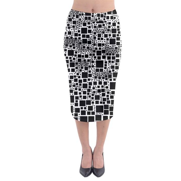 Block On Block, B&w Midi Pencil Skirt