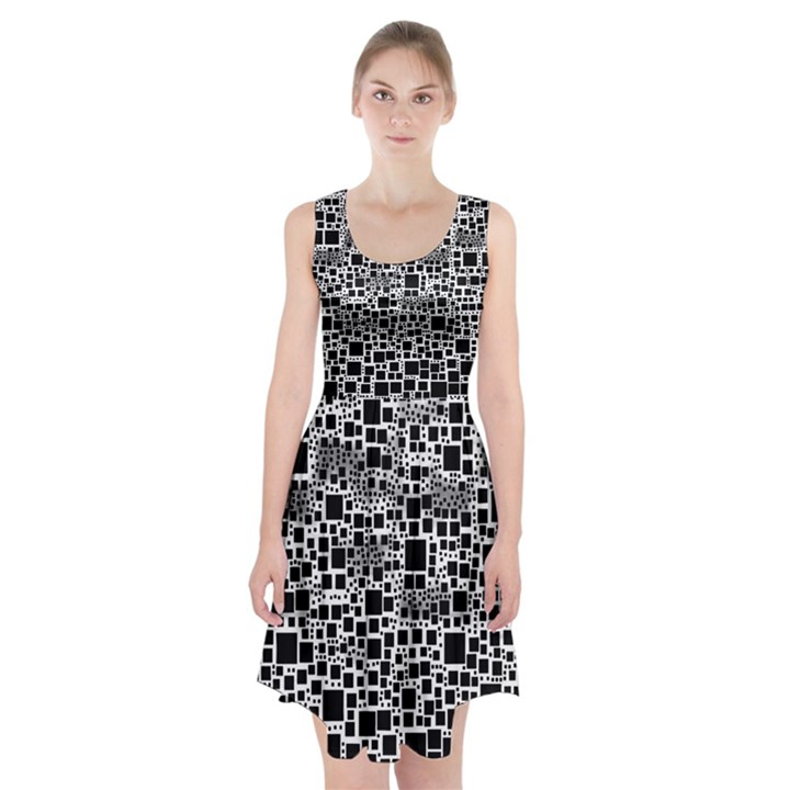 Block On Block, B&w Racerback Midi Dress