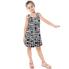 Block On Block, B&w Kids  Sleeveless Dress