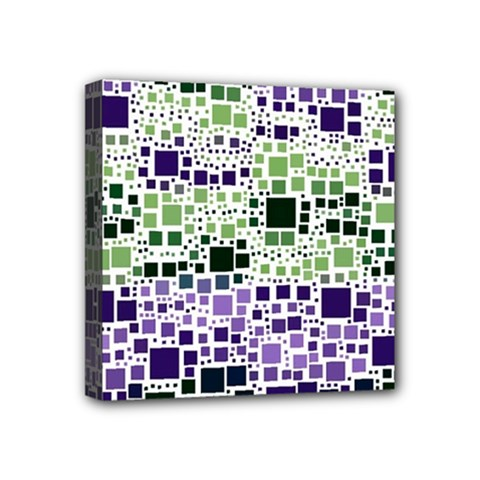 Block On Block, Purple Mini Canvas 4  X 4  by MoreColorsinLife