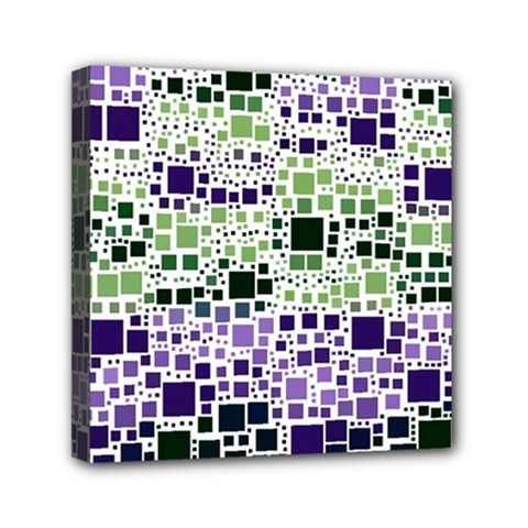 Block On Block, Purple Mini Canvas 6  X 6  by MoreColorsinLife