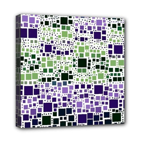 Block On Block, Purple Mini Canvas 8  X 8  by MoreColorsinLife