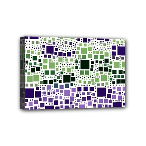 Block On Block, Purple Mini Canvas 6  X 4  by MoreColorsinLife