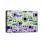 Block On Block, Purple Mini Canvas 6  x 4