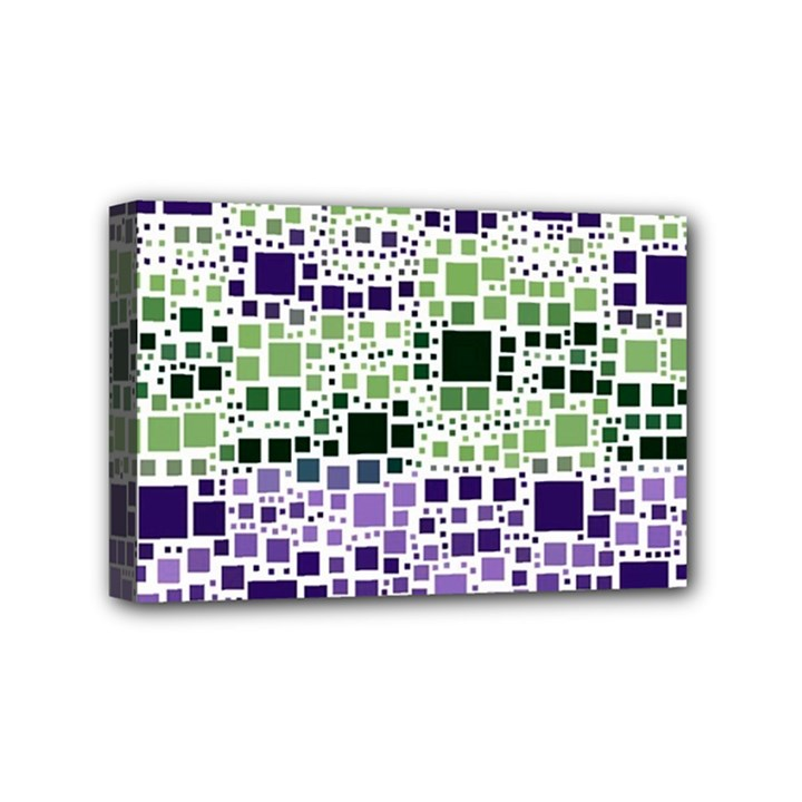 Block On Block, Purple Mini Canvas 6  x 4