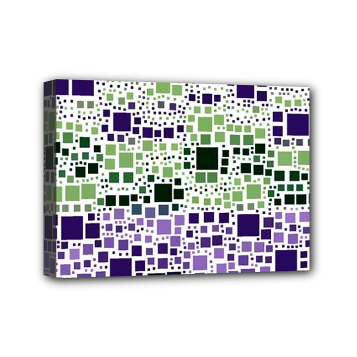 Block On Block, Purple Mini Canvas 7  x 5