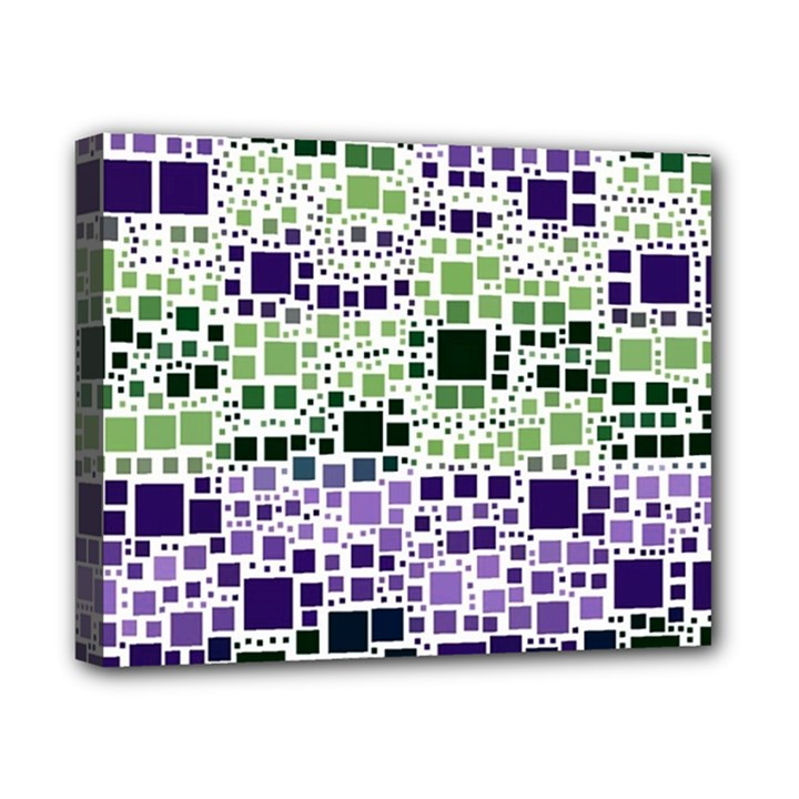 Block On Block, Purple Canvas 10  x 8