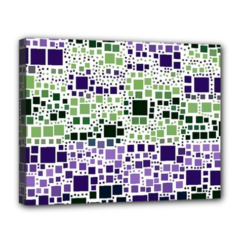 Block On Block, Purple Canvas 14  X 11  by MoreColorsinLife
