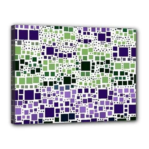 Block On Block, Purple Canvas 16  X 12  by MoreColorsinLife
