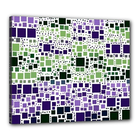 Block On Block, Purple Canvas 24  X 20  by MoreColorsinLife