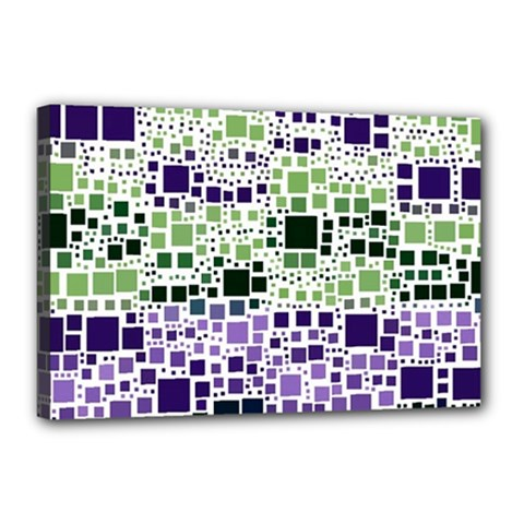 Block On Block, Purple Canvas 18  X 12  by MoreColorsinLife