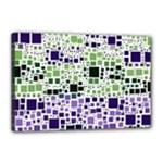 Block On Block, Purple Canvas 18  x 12