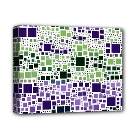 Block On Block, Purple Deluxe Canvas 14  x 11