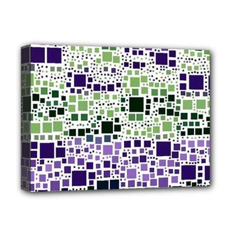 Block On Block, Purple Deluxe Canvas 16  X 12   by MoreColorsinLife