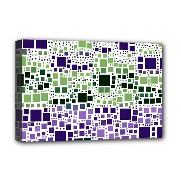 Block On Block, Purple Deluxe Canvas 18  x 12