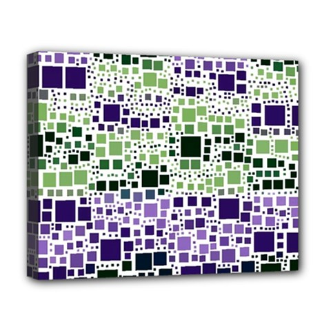 Block On Block, Purple Deluxe Canvas 20  X 16   by MoreColorsinLife