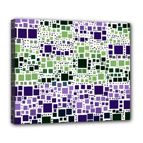 Block On Block, Purple Deluxe Canvas 24  X 20   by MoreColorsinLife