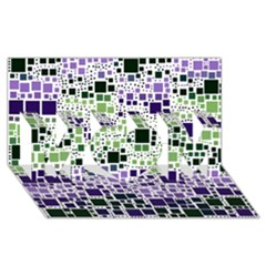 Block On Block, Purple Mom 3d Greeting Card (8x4)
