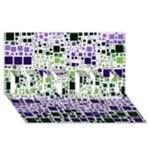 Block On Block, Purple BEST BRO 3D Greeting Card (8x4)