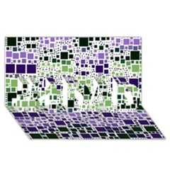 Block On Block, Purple #1 Dad 3d Greeting Card (8x4) by MoreColorsinLife