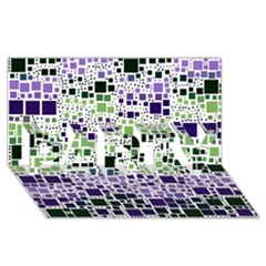 Block On Block, Purple Party 3d Greeting Card (8x4) by MoreColorsinLife