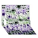 Block On Block, Purple Miss You 3D Greeting Card (7x5)