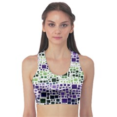 Block On Block, Purple Sports Bra by MoreColorsinLife