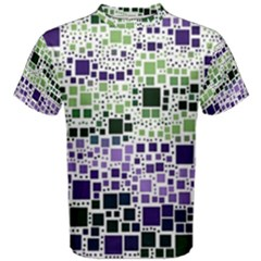 Block On Block, Purple Men s Cotton Tee by MoreColorsinLife