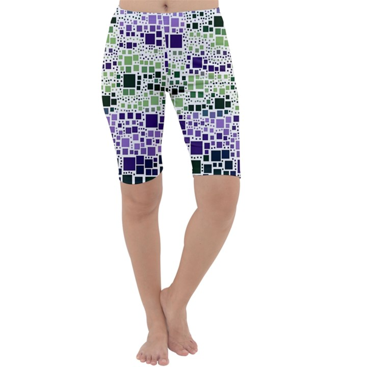 Block On Block, Purple Cropped Leggings