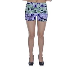 Block On Block, Purple Skinny Shorts by MoreColorsinLife
