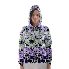 Block On Block, Purple Hooded Wind Breaker (women) by MoreColorsinLife