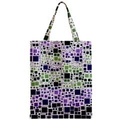 Block On Block, Purple Zipper Classic Tote Bag by MoreColorsinLife