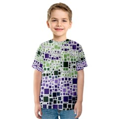 Block On Block, Purple Kids  Sport Mesh Tee by MoreColorsinLife
