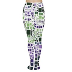 Block On Block, Purple Women s Tights by MoreColorsinLife