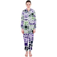 Block On Block, Purple Hooded Jumpsuit (ladies)  by MoreColorsinLife