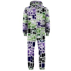 Block On Block, Purple Hooded Jumpsuit (men)  by MoreColorsinLife