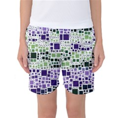 Block On Block, Purple Women s Basketball Shorts by MoreColorsinLife