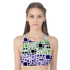 Block On Block, Purple Tank Bikini Top