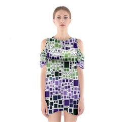 Block On Block, Purple Cutout Shoulder Dress by MoreColorsinLife