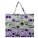 Block On Block, Purple Zipper Large Tote Bag View1