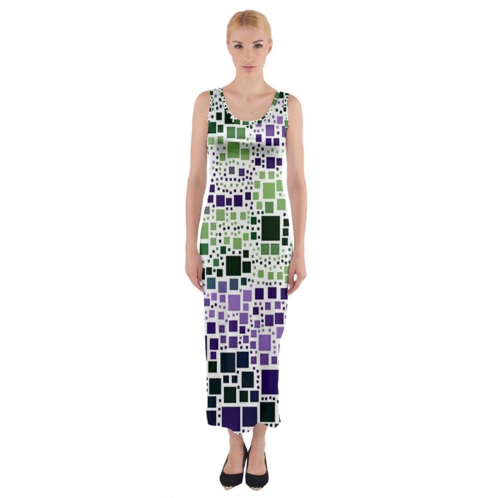 Block On Block, Purple Fitted Maxi Dress