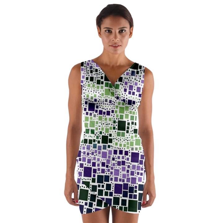 Block On Block, Purple Wrap Front Bodycon Dress
