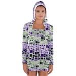 Block On Block, Purple Women s Long Sleeve Hooded T-shirt