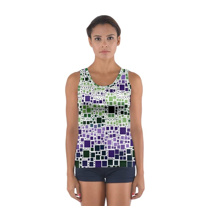 Block On Block, Purple Women s Sport Tank Top
